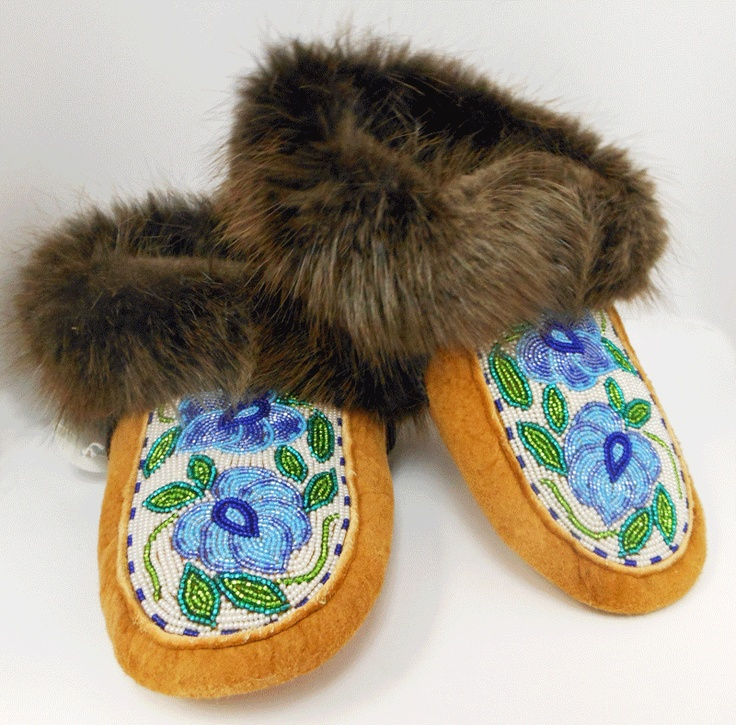 Moccasins from the Norman Wells Historical Society Crafts Store.