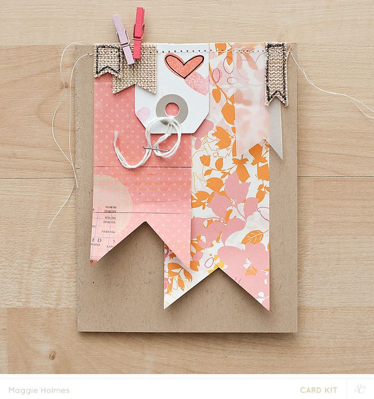Heart Banner Card by maggie holmes