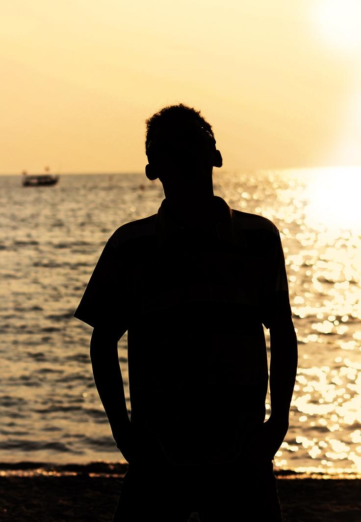 Silhouette at Pantai Bandengan Jepara