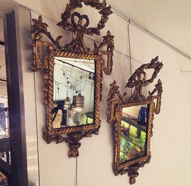 Pair of Italian C18th gilt wood mirrors ref:12558 www.thecountrytrader.com.au