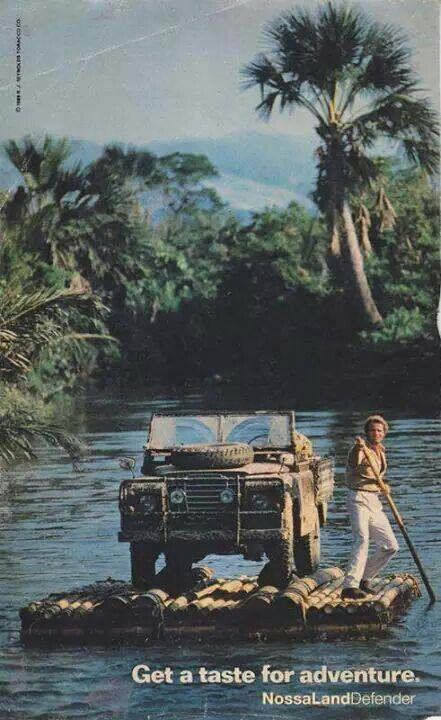 Going for a paddle with the Series Three #LandRover #Defender