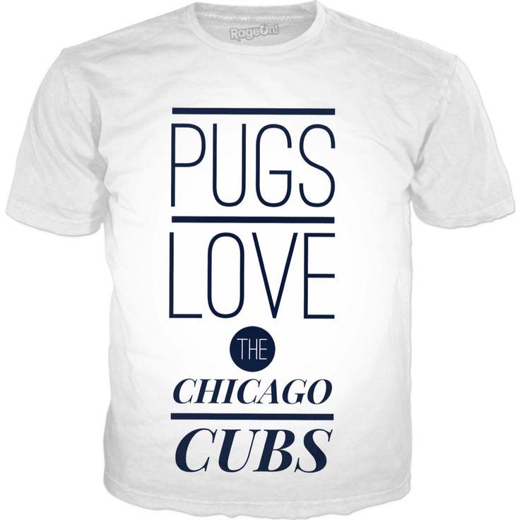 Pugs Love Chicago Cubs T Shirt https://www.rageon.com/products/pugs-love-chicago-cubs-t-shirt?s=ios&aff=HnDU Made with #RageOn