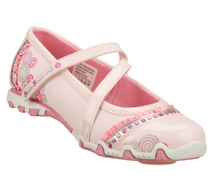 Sketchers Prima Ballerina shoes with a spinny ball in the sole. Very cute!!