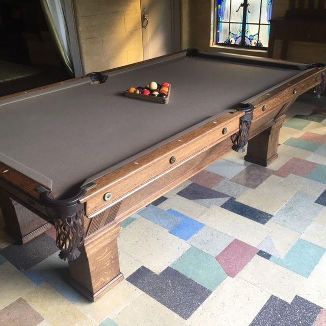 antique brunswick pool table #Brunswick