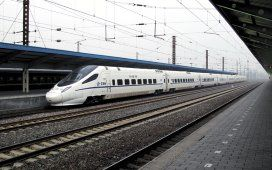 High speed rail travelling up to 250 kilometres per hour has been recommended to the Ontario government for cost reasons. A CRH5 train, derived from the Alstom ETR600, is pictured at China's Qinhuangdao Station. It operates at 250 kilometres per hour.