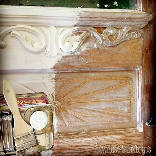 Techniques for stripping paint... especially the nooks and crannies! {Sawdust and Embryos}