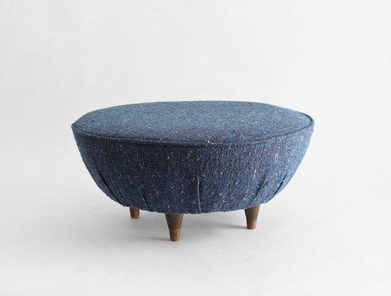 Mid Century Footstool  Ottoman Modern Retro 1950's by Hindsvik, $145.00