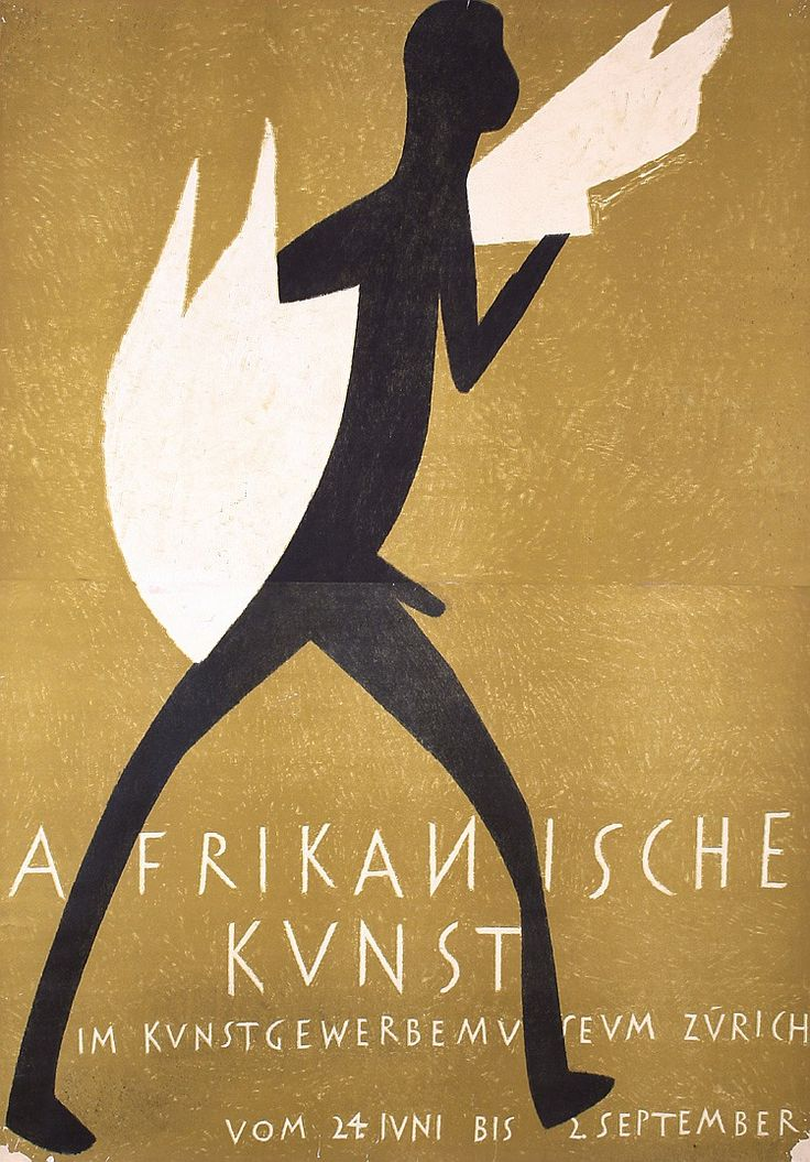 Old 1940s ERNST KELLER Swiss Design Poster African - by PosterConnection Inc.