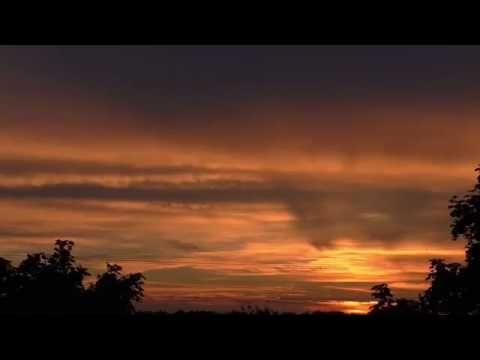 Beautiful red sunset - YouTube