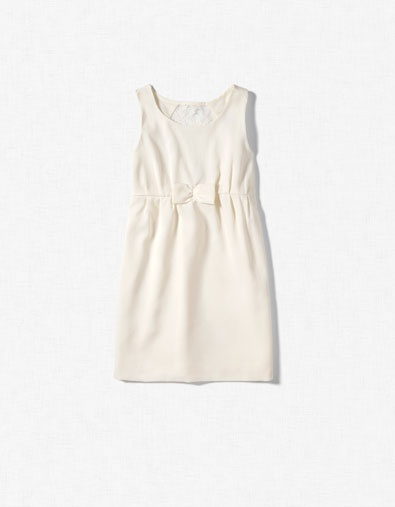 DRESS WITH GUIPURE LACE AT THE BACK / ZARA United States