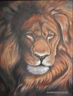 Lion in oil ~ Derek Wick's tutorial from Power to Paint series