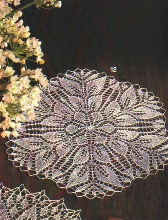 Scheme knitted tablecloths 9