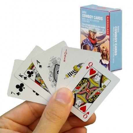 Mini Cartes à Jouer CowBoy (x54) présentation