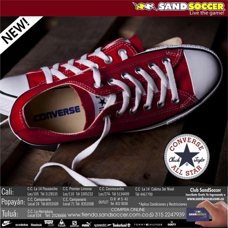 Lo que estabas esperando!. Ahora en nuestras tiendas #Converse. http://www.tienda.sandsoccer.com.co @cclaherradura @CampanarioCC