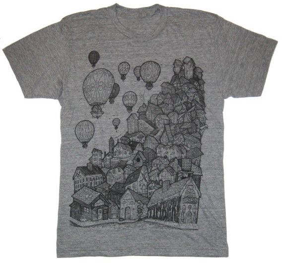 village on athletic grey large by timberps on Etsy