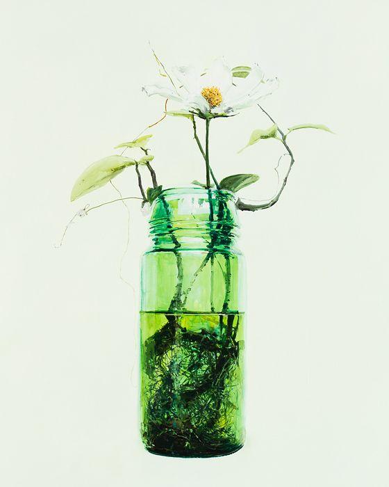 Dane Lovett  Realistic art, I love the jarred flowers
