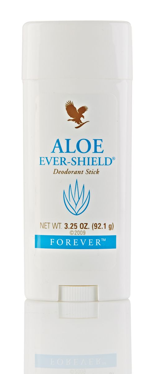 Forever Aloe Ever-Shield Deodorant offers day-long protection and contains no harsh aluminium salts or alcohol.