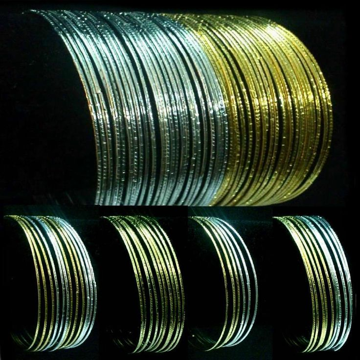 Indische Armreifen Set Ø6,5cm Bracelet Armband Bollywood Choorian Bangles Sari