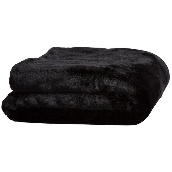 Olivier Desforges Panthere Throw ($417) ❤ liked on Polyvore featuring home, bed & bath, bedding, blankets, black, filler, black faux fur blanket, faux fur throw blanket, faux fur bedding and black blanket