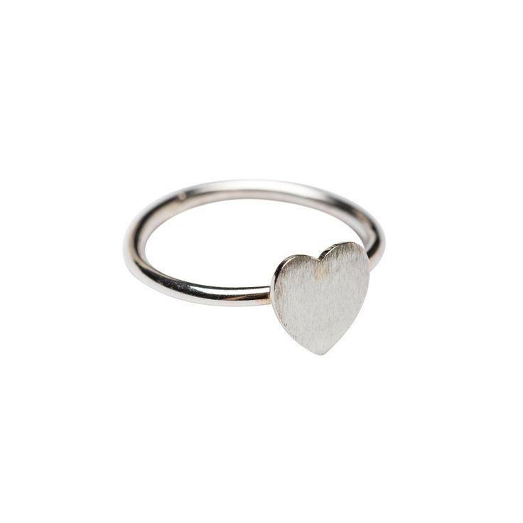 Hjertering, micro sølv fra Aidasmykker.dk