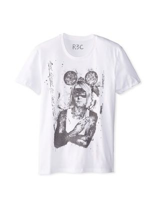 55% OFF R3C by Reception (LAB) Men's Kurt Short Sleeve Graphic T-Shirt (Ivory)