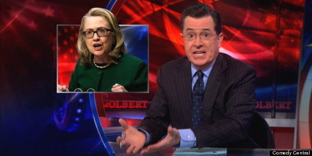 ~ Colbert does grt job pointing out the hypocrisy of the RW &  Hillary ..