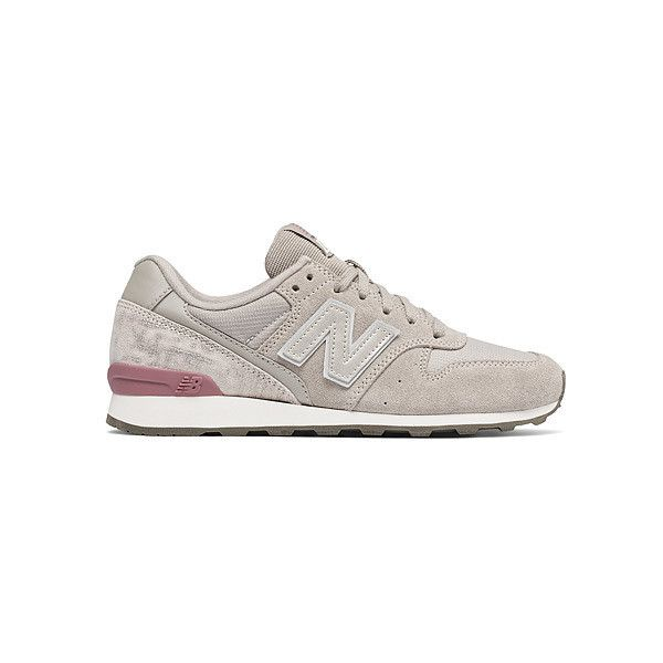 New Balance WL696  Sneakers ($80) ❤ liked on Polyvore featuring shoes, sneakers, new balance, new balance footwear, suede sneakers, suede leather shoes and new balance shoes