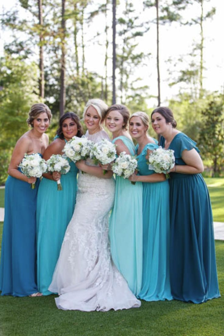 25 cute mismatched bridesmaids blue ideas on pinterest c baron photography turquoise bridesmaidsmismatched ombrellifo Gallery