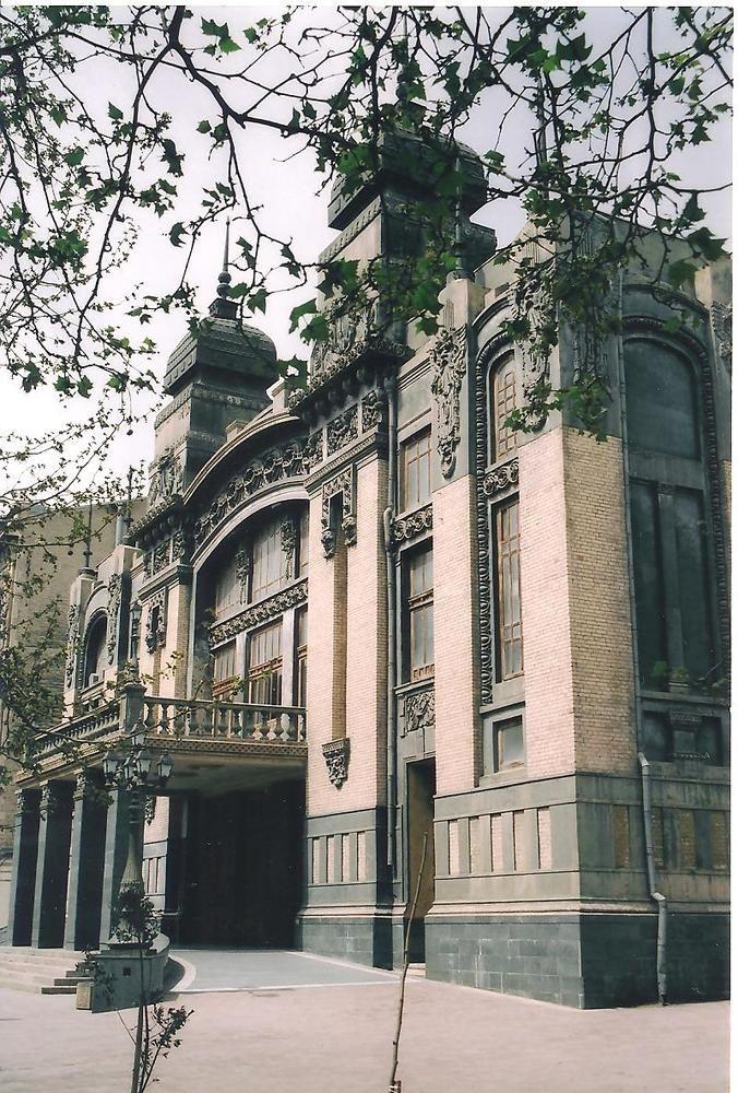 Beautiful Art Nouveau Building in Baku. Azerbaijan