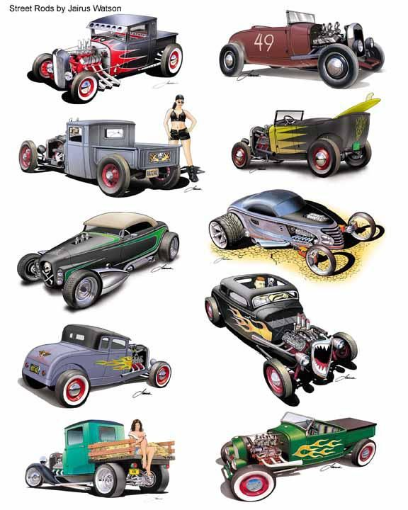 200+ ideas for my new Street Rod : Hot Rod Art: By Jairus Watson