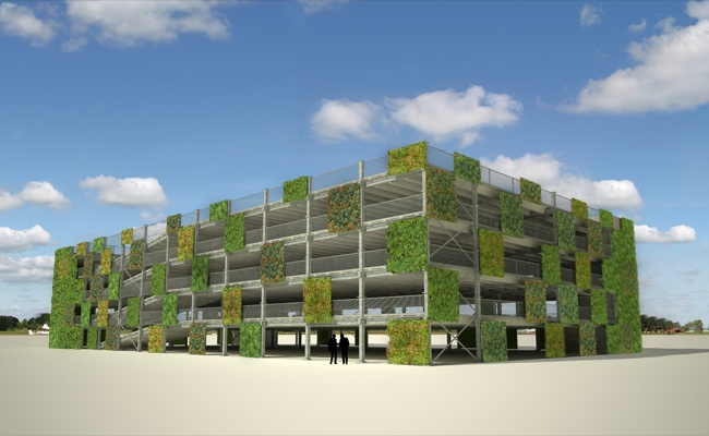ModuPark PLUS parking system, Ballast Nedam (NL), green facade type 1, www.8aa.nl