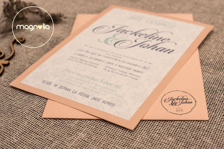 Jackeline + Johan - Invitaciones creativas para bodas   #bodas #wedding #originales #creativas #invitaciones #romantico #invitaconesbodas #magnoliabodas