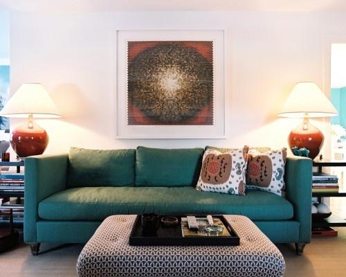 colors: Decor, Ideas, Living Rooms, Livingrooms, Color, Teal Sofa, Eclectic Living Room, Sofas, Design