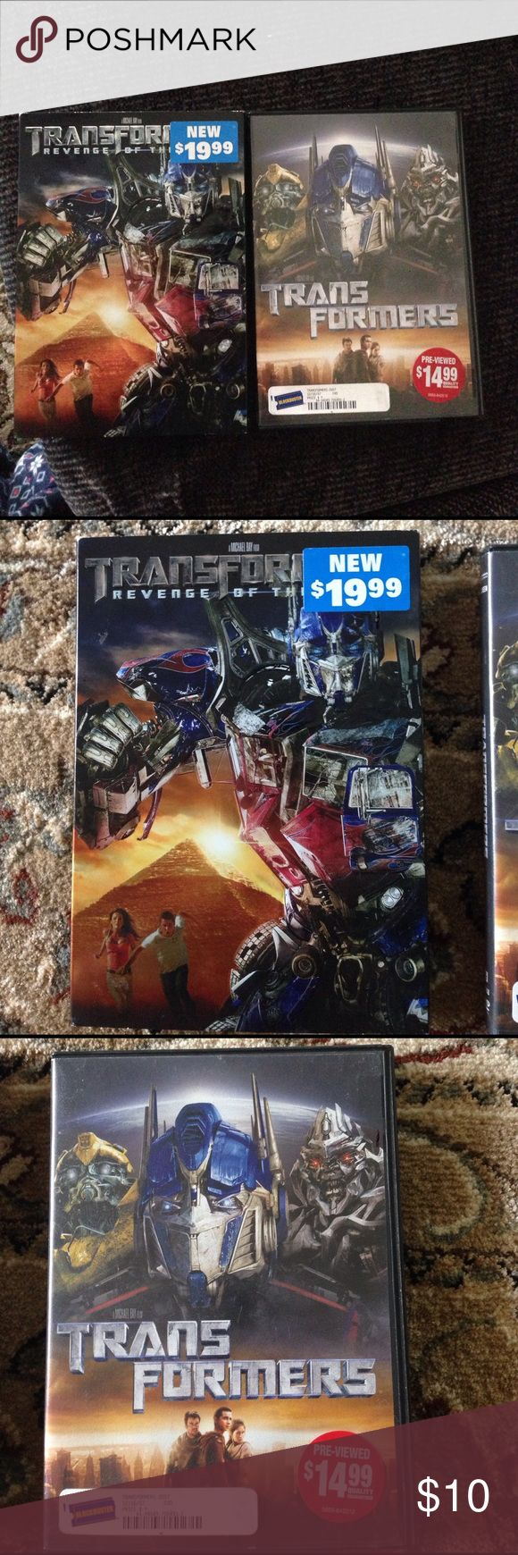 2 Transformers DVD's Transformers and Transformers Revenge of the Fallen. Both have cases. Other
