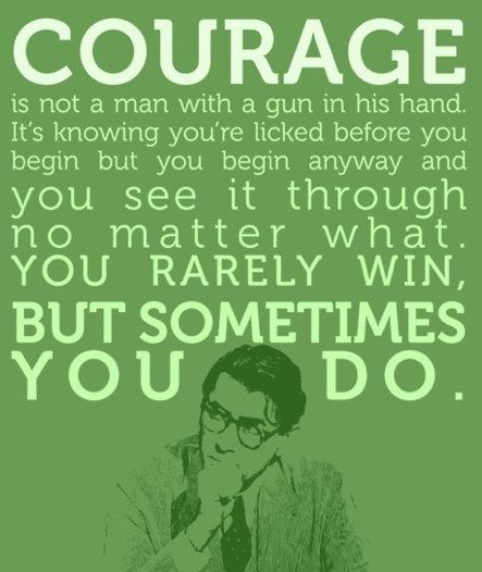"Atticus Finch quote from the novel, ""To Kill a Mockingbird"" by Harper Lee. (via joezen01)"