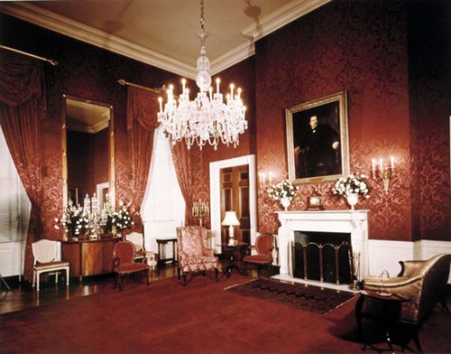 The Red Room Inside The White House, Where President Hayes Took The Path Of  Office