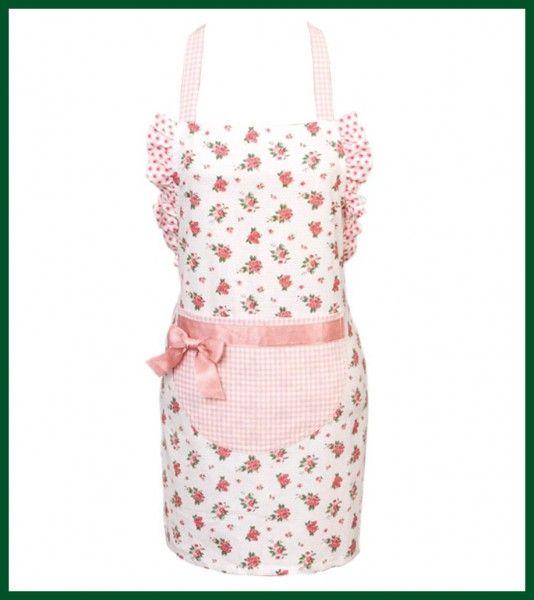 Kinderschürze ROSEN Küchen Schürze Rüschen rosa Wohntextilien Küchentextilien Küchenhelfer