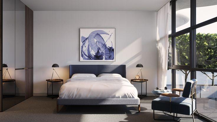 noco apartment development designer bedroom