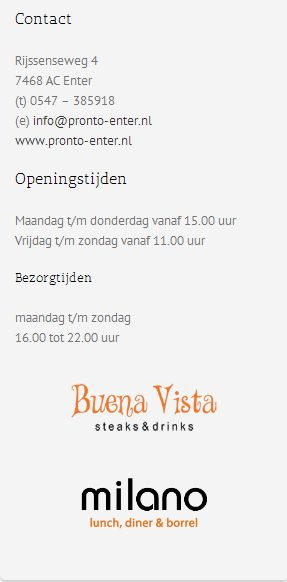 Contact / Openingstijden