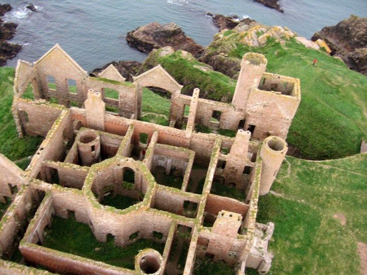 The Ruins of New Slains Castle on the Cliffs of Cruden Bay