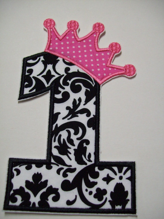 iron on appliques 1st birthday