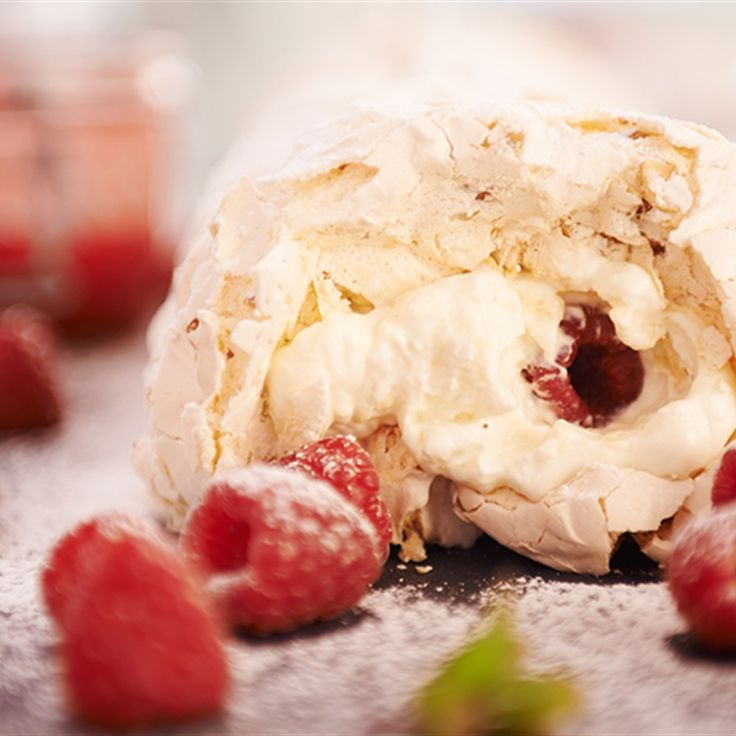 Try this Raspberry and White Chocolate Meringue Roulade recipe by Chef Rachel Allen. This recipe is from the show Rachel Allen: All Things Sweet.