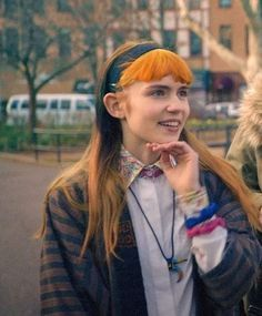 Grimes/Claire Boucher/ I think she was on haunted, Her hair was the same as the Video that was recorded <3