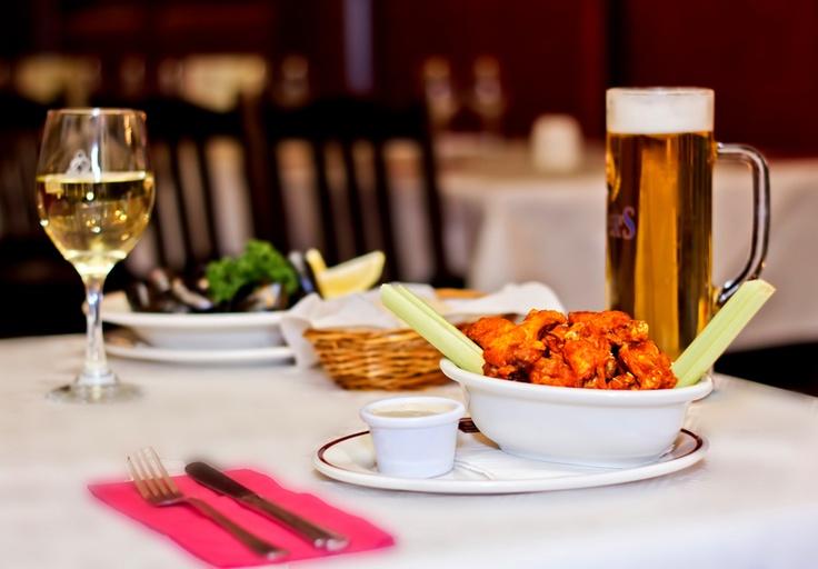 Buffalo Wings are the most popular starter on Luigi Malones menu.