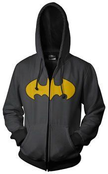 Amazon.com: Batman Logo Print Charcoal Men's Zip-Up Hooded Sweatshirt Hoodie: Clothing