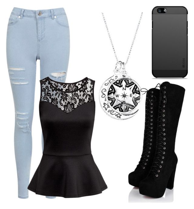 """""""Peplum Outfit"""" by aaliyahsalmon ❤ liked on Polyvore featuring Miss Selfridge and H&M"""