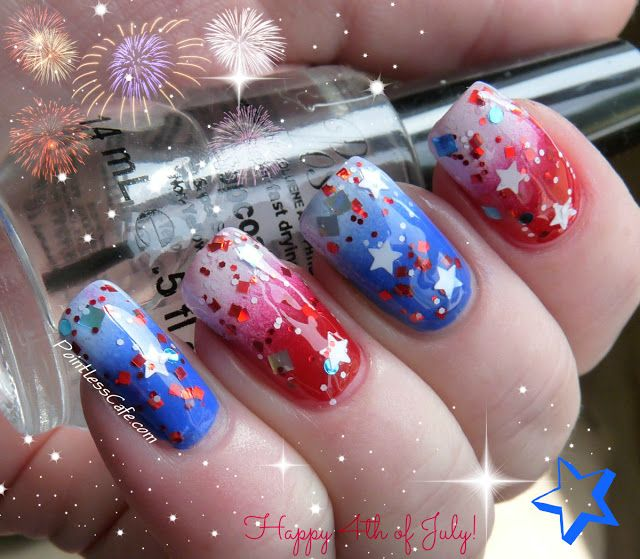 4th of July Nails - Happy 4th of July