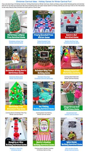Fun Holiday, Christmas and Winter Games - Many DIY Games Too!