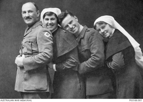 WWI; Four siblings of the Malcolm family of Melbourne, Victoria, all of whom served during the First World War and returned home to Australia.