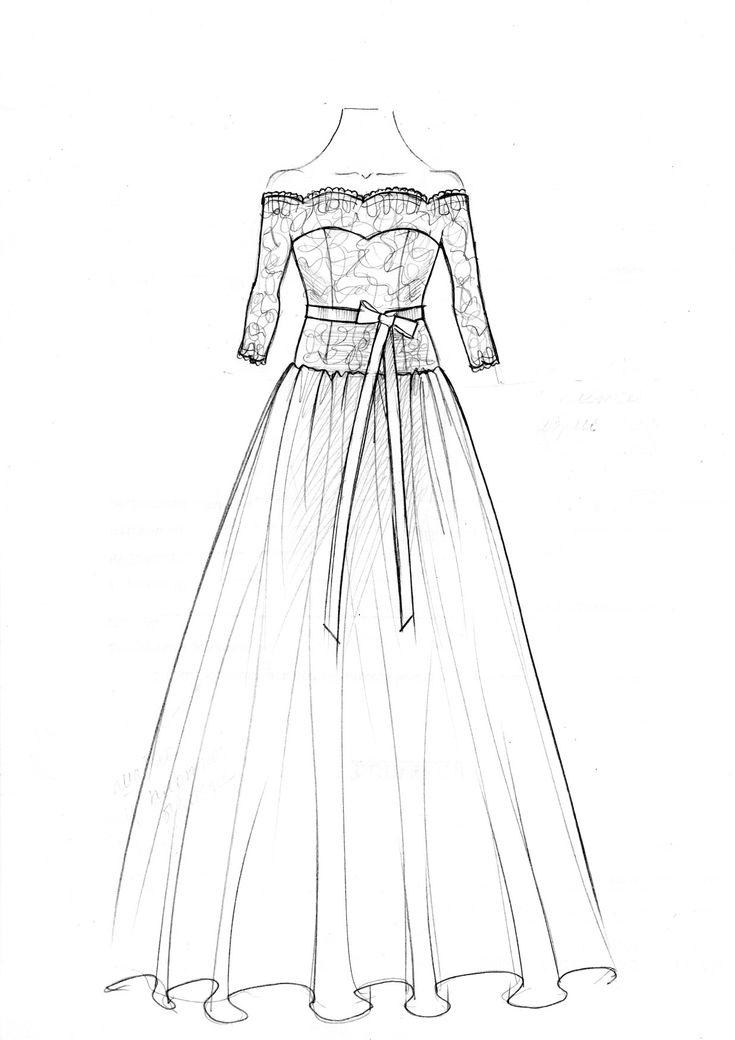 Рисунки карандашом платья для начинающих дизайнеров нет